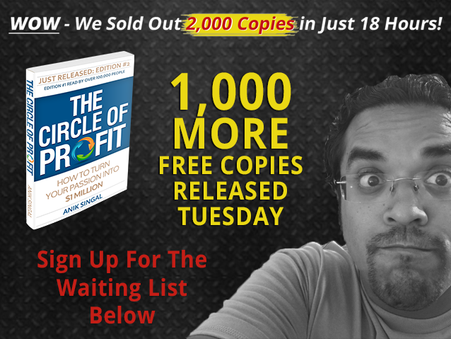 Wow! We Sold Out Of 2,000 Copies In Just 18 Hours! 1,000 NEW Copies Tuesday.