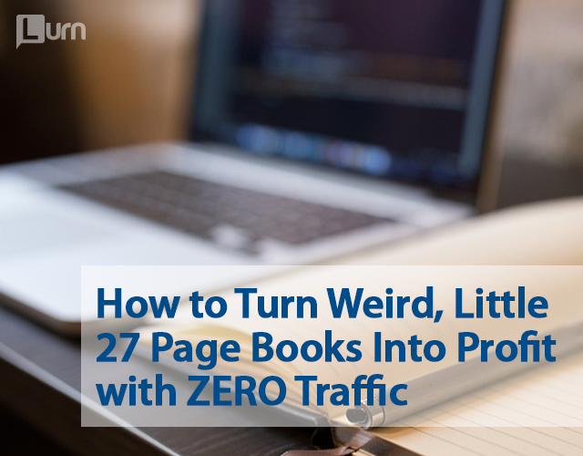 How to Turn Weird, Little 27 Page Books Into Profit with ZERO Traffic