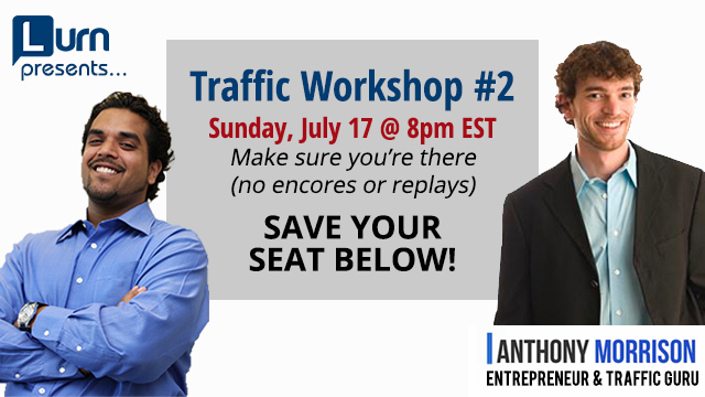 Join us for Traffic Workshop #2 Sunday July 17