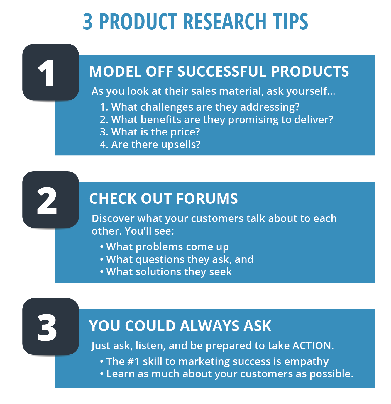 Information Product Research Tips