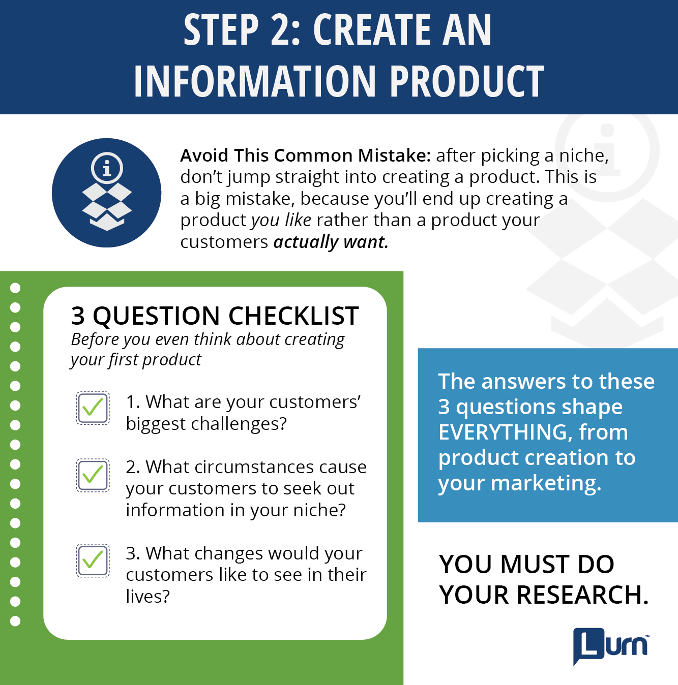 Step 2: Create An Information Product