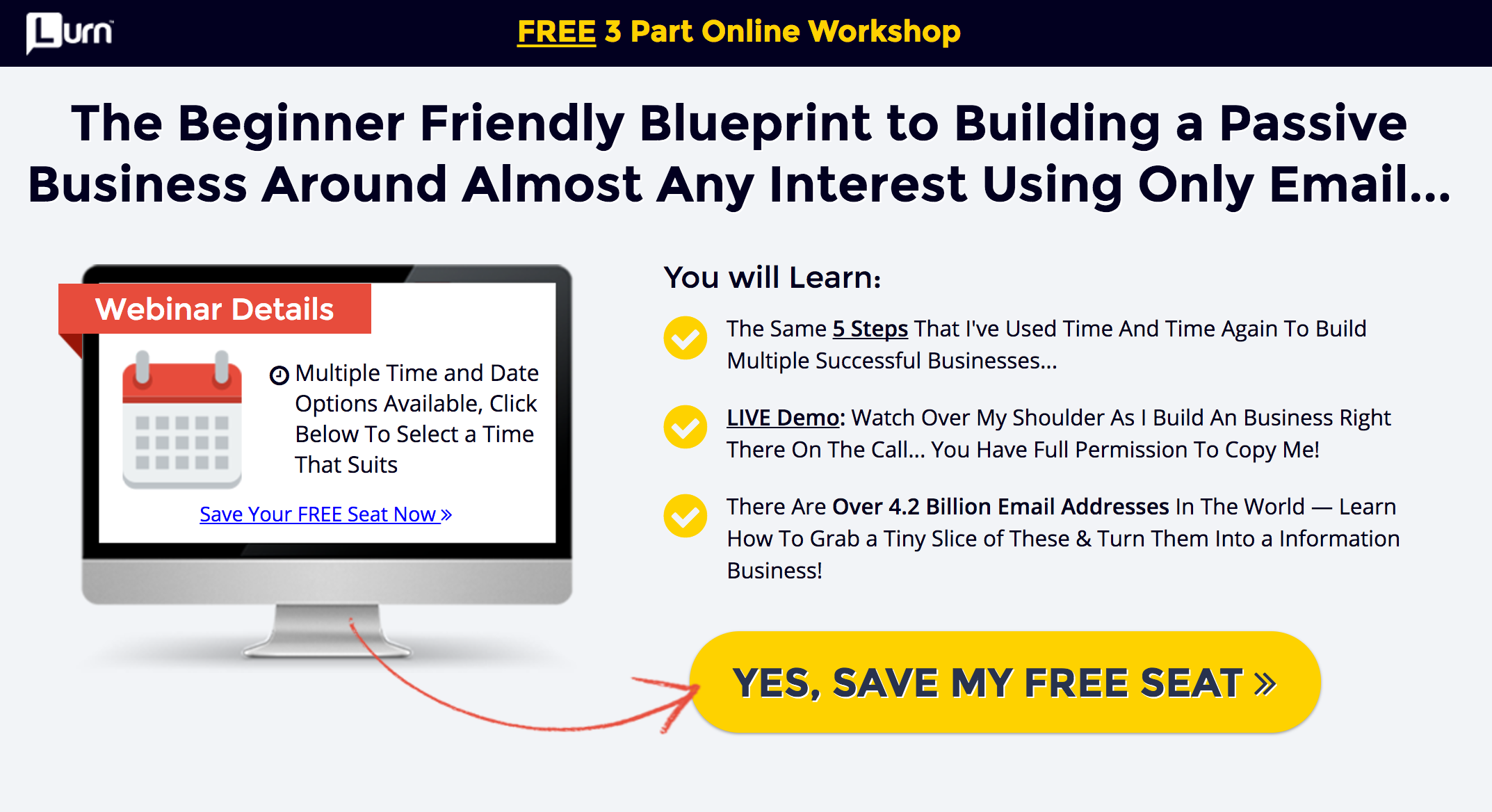 7 steps to turn your passion into profits by starting your own webinar page example fandeluxe Choice Image