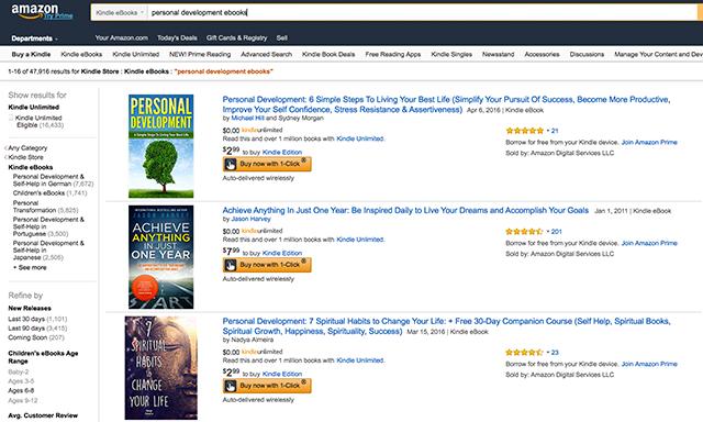 Amazon Kindle Example