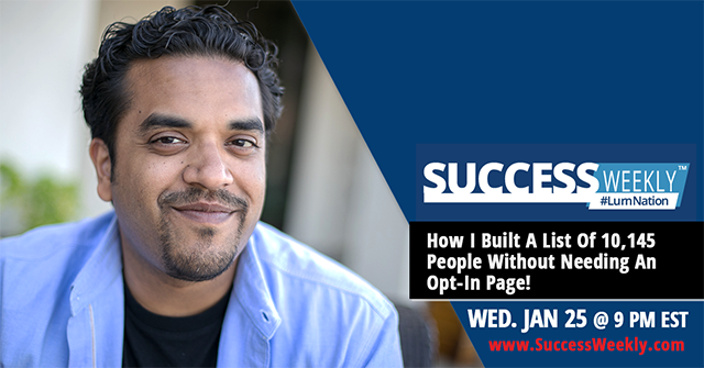 Join Me for Success Weekly This Week!