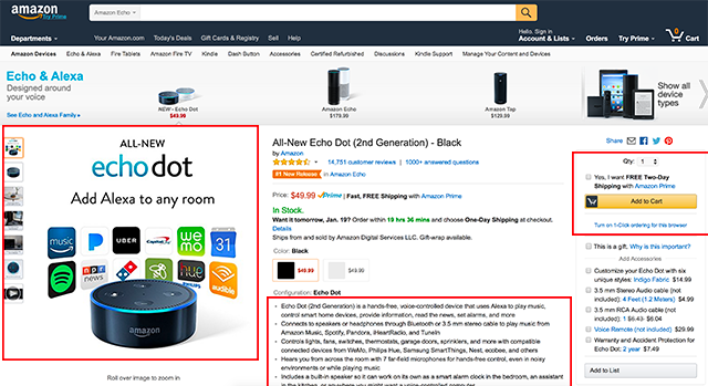 eCommerce Amazon Example