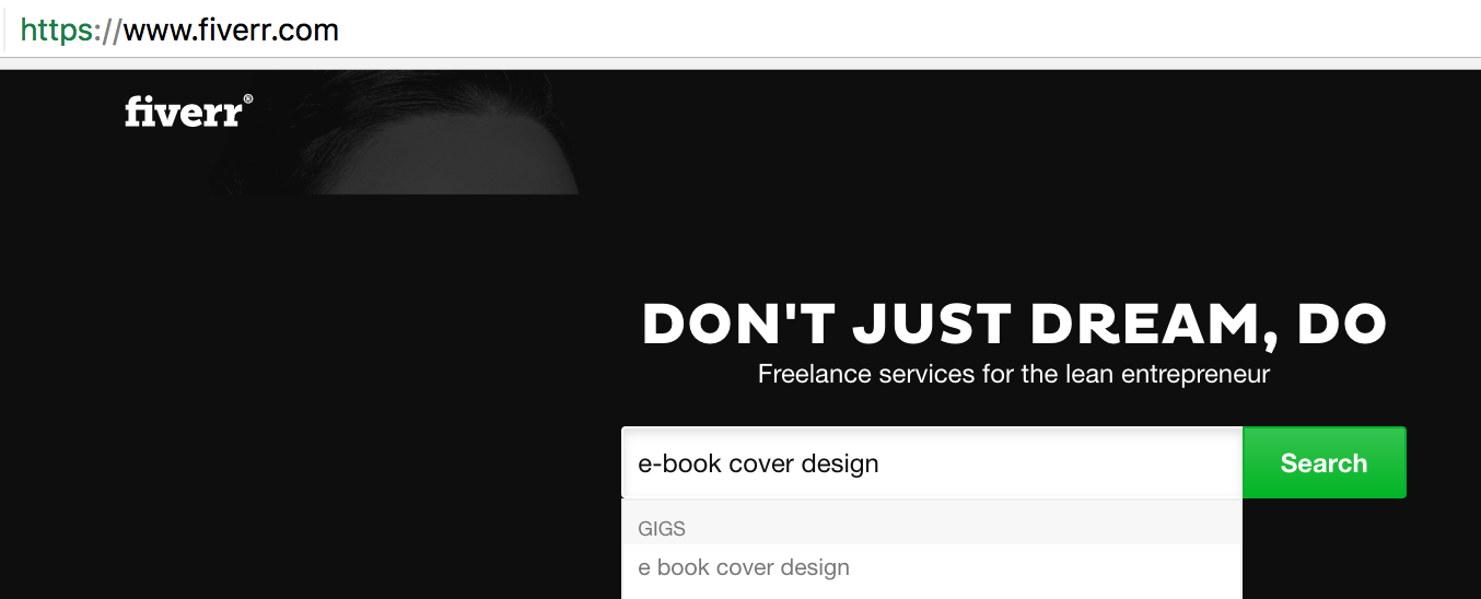Fiverr e-book Cover Design Search