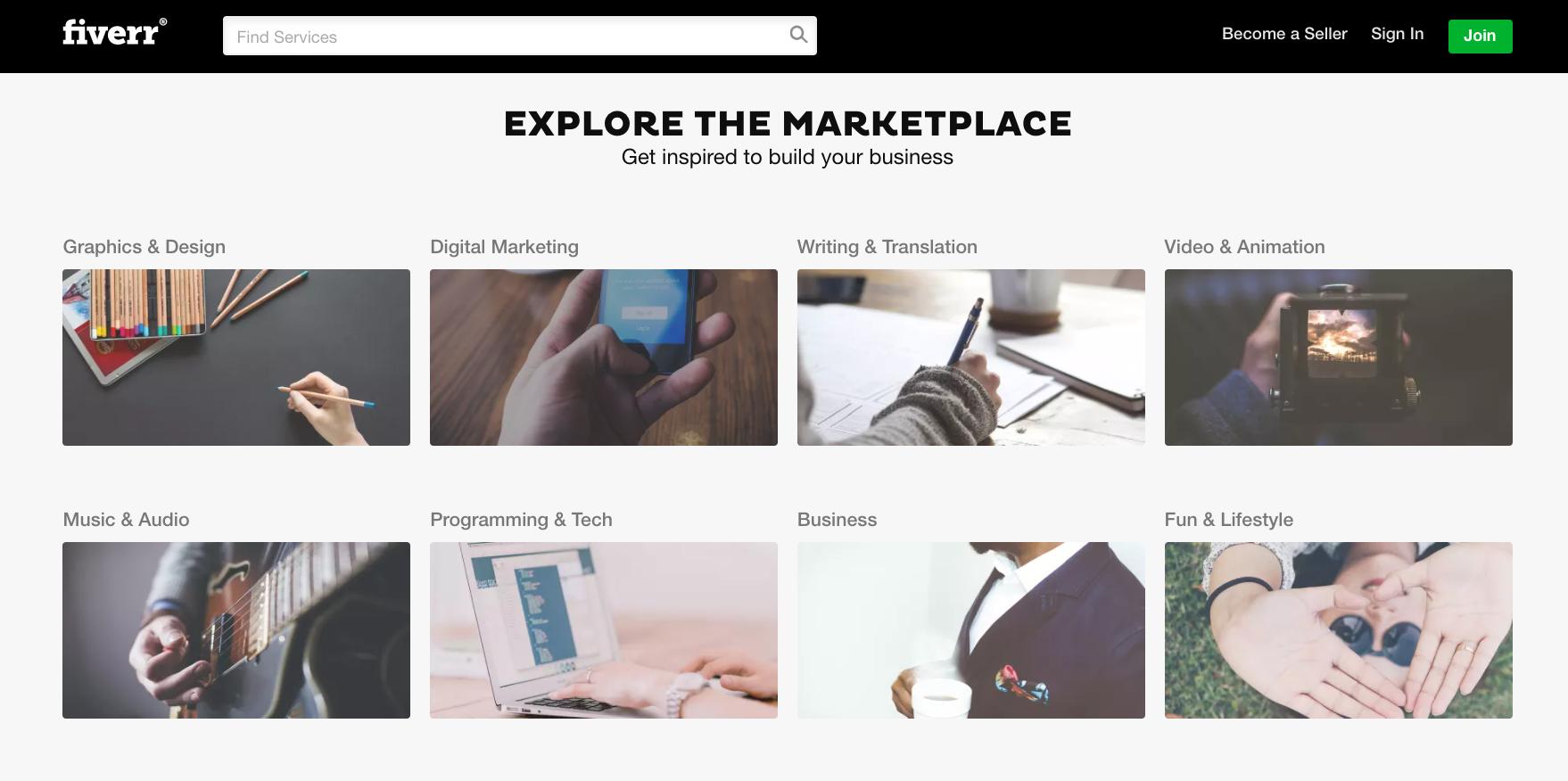 Fiverr Freelancer Example