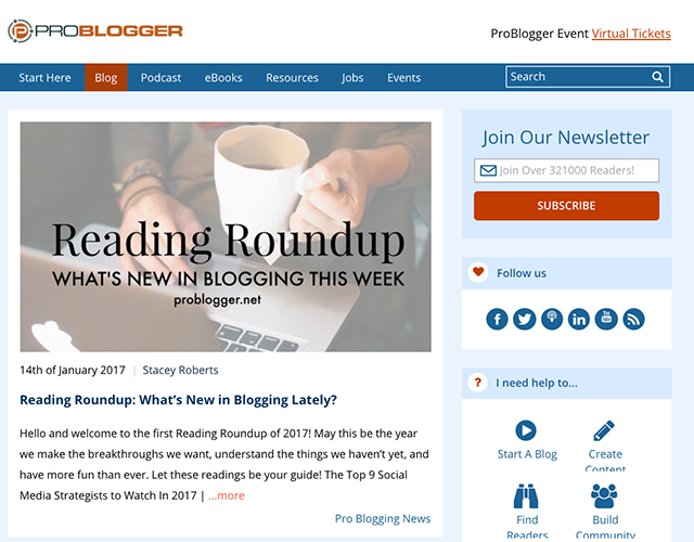Pro Blogger - Blog Example